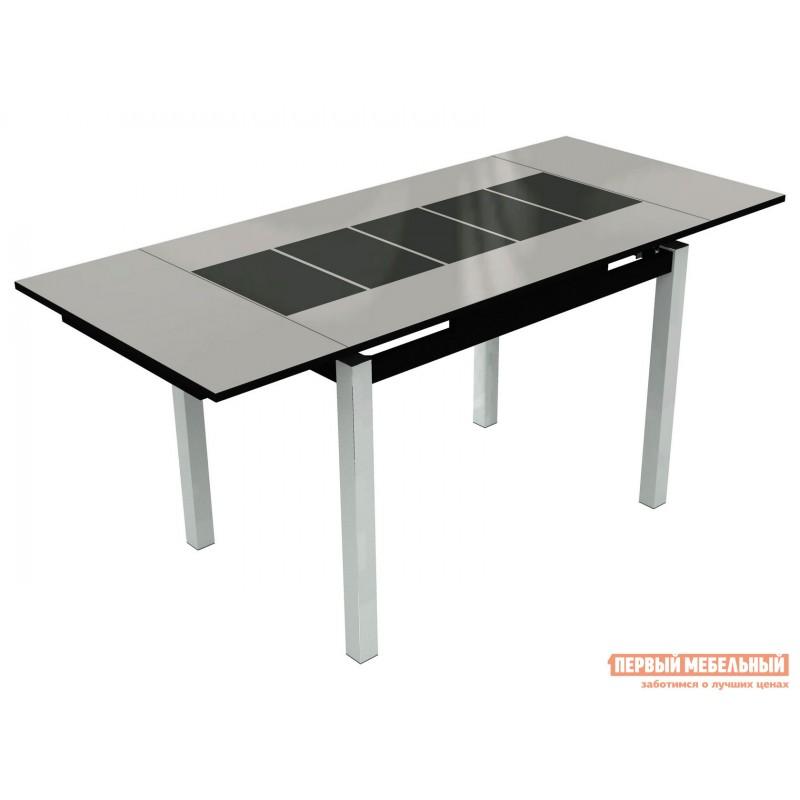 Обеденная группа для столовой и гостиной  Стол Шанхай + 4 стула Бордо Белый, Черный / Батлер 08; Белый (фото 3)