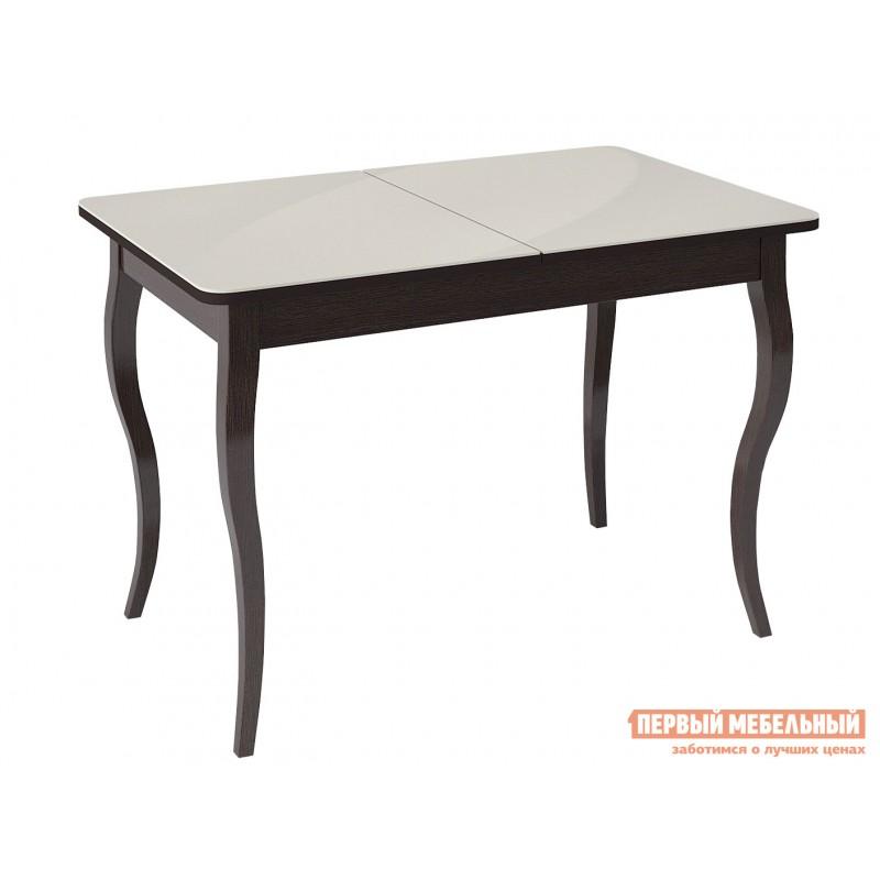 Кухонный стол  KENNER 1100С Венге / Стекло крем