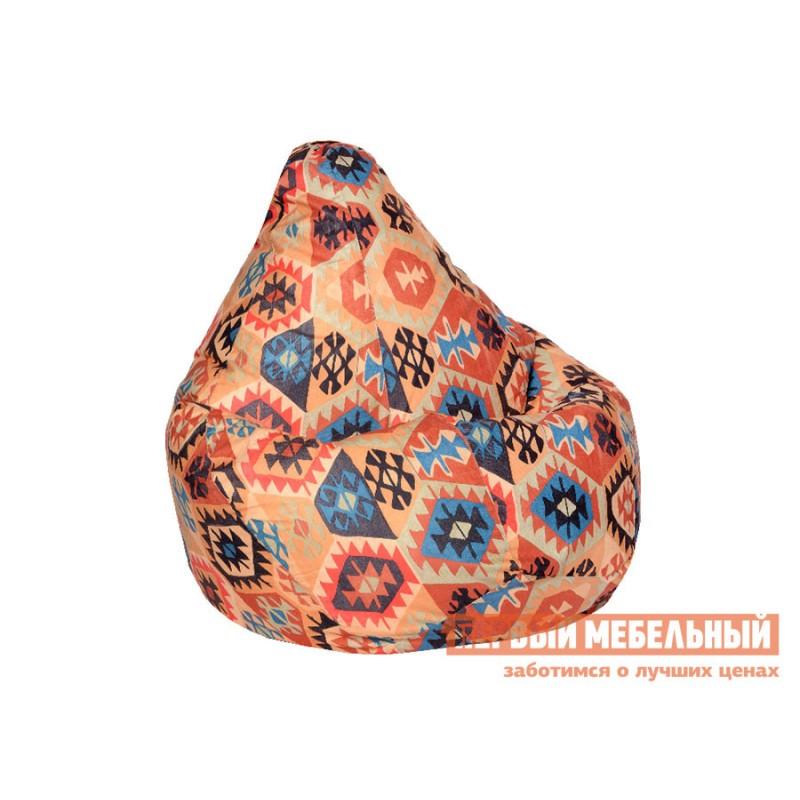 Кресло-мешок  Кресло-мешок Велюр Мехико Оранжевый, 3XL