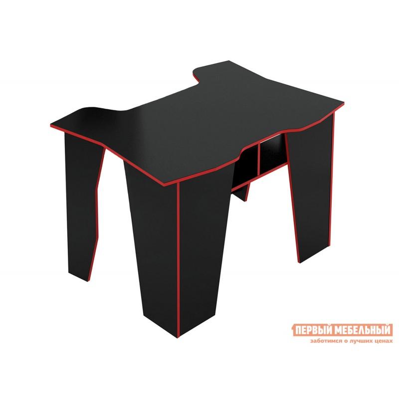 Компьютерный стол  МСТ-СИС-01 Стол игровой Страйкер-1 Черный с красной кромкой (фото 3)