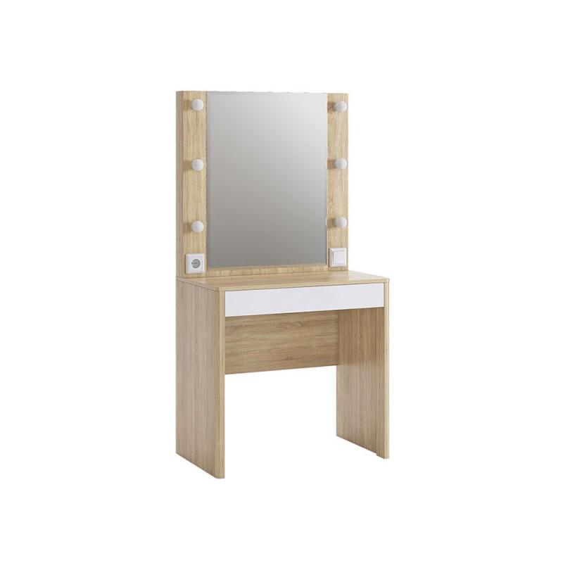 Туалетный столик  Туалетный столик Зара Дуб сонома / Белый