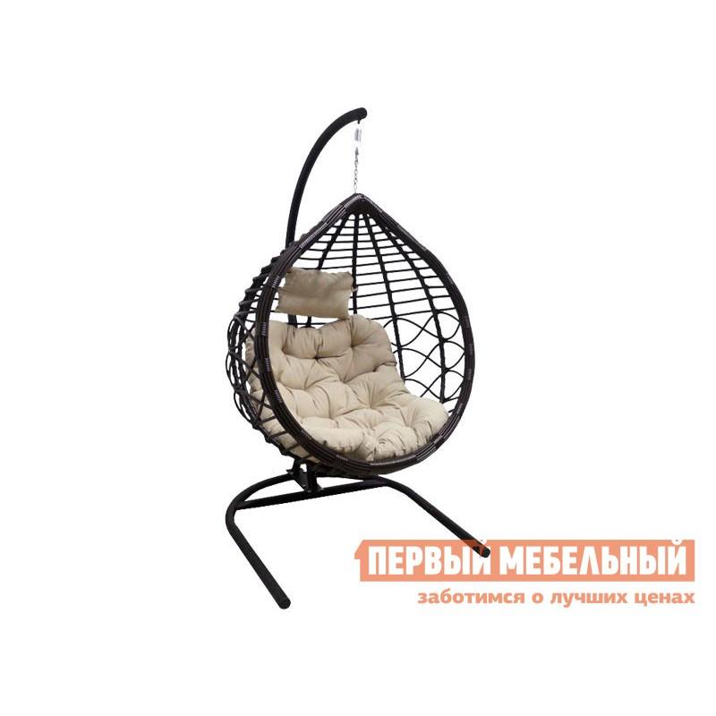 Подвесное кресло  VEIL2 Коричневый, ротанг / Бежевый, ткань