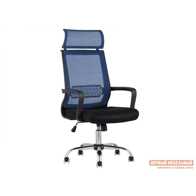 Офисное кресло  КреслоофисноеTopChairsStyle Черный, сетка / Синий, сетка