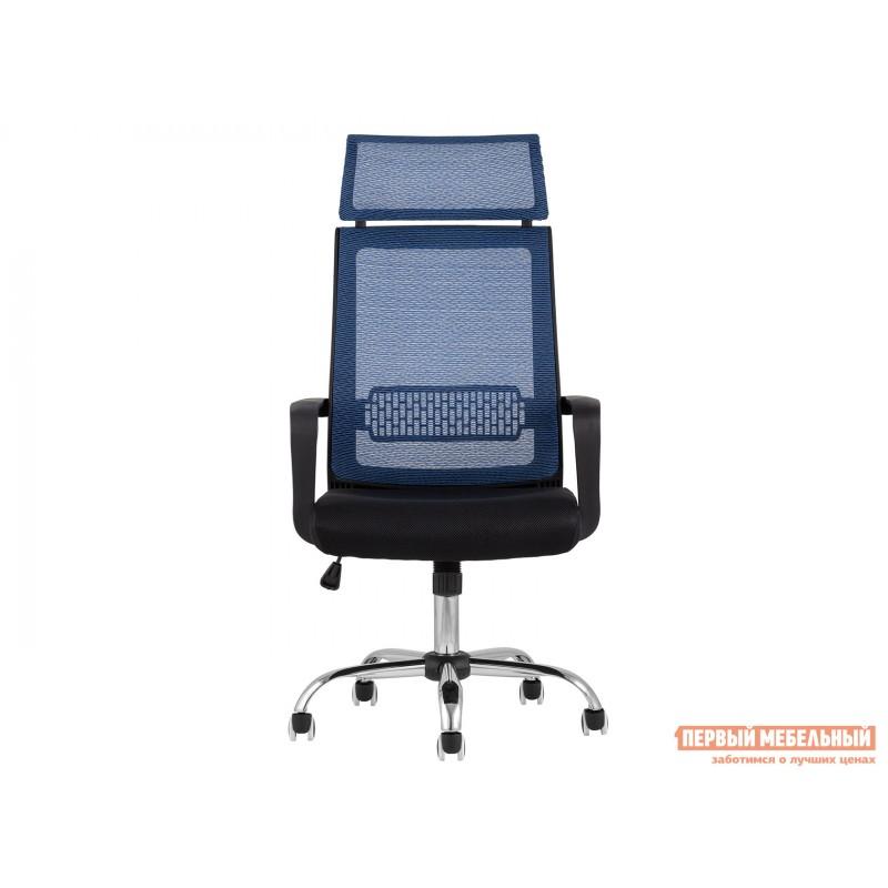 Офисное кресло  КреслоофисноеTopChairsStyle Черный, сетка / Синий, сетка (фото 2)