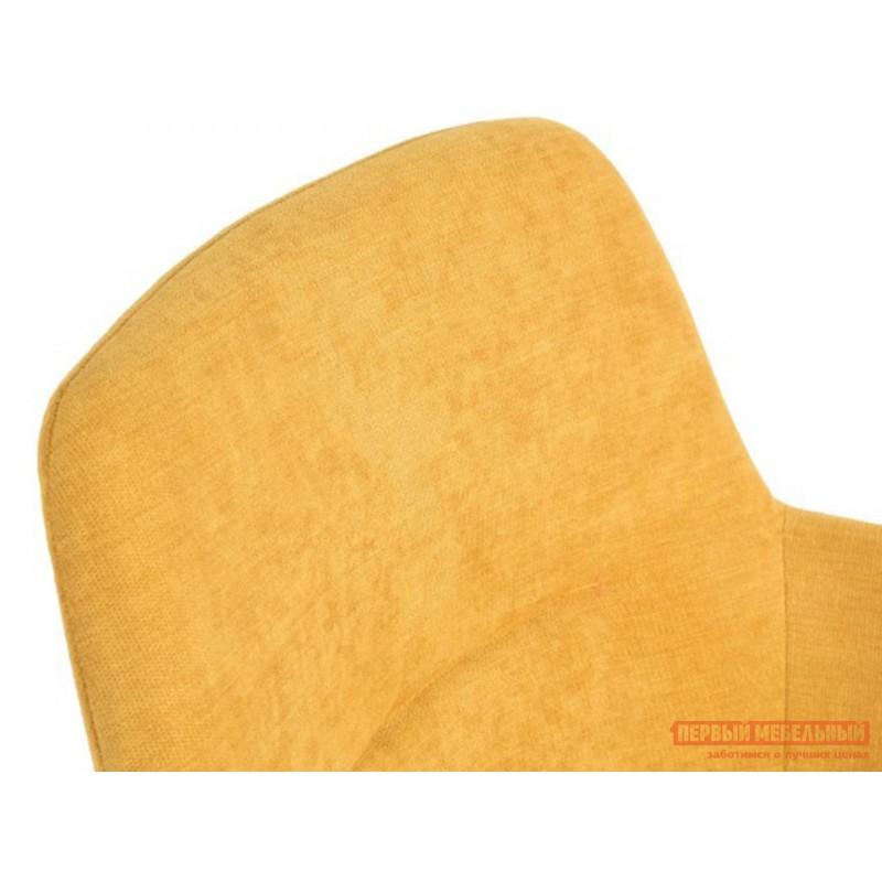 Стул  QUEENY Желтый, микрофибра (фото 3)