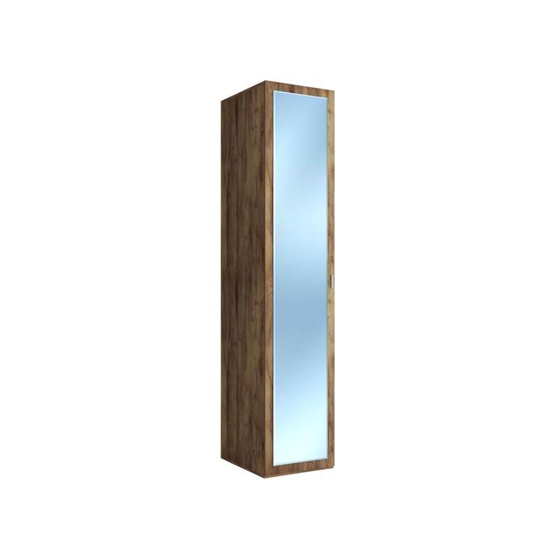Распашной шкаф  Шкаф-пенал Вега Бавария Таксония медовая, С зеркалом