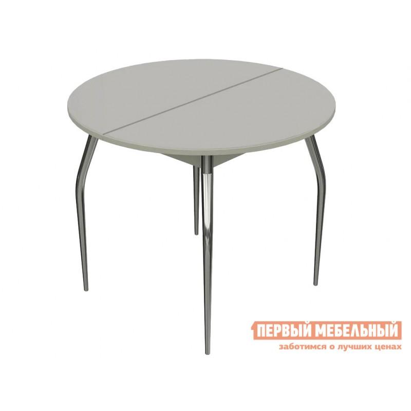 Кухонный стол  Стол Ривьера СВ 90 Стекло Белое / ЛДСП Белая
