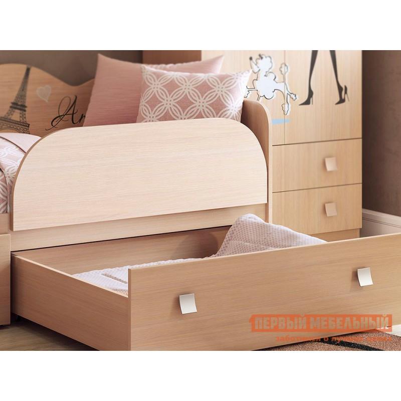 Детская кровать  Амели кровать Дуб Млечный, С бортиком (фото 4)