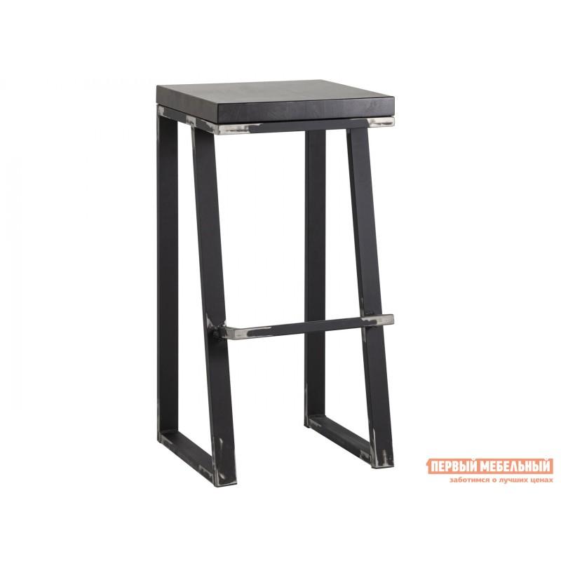 Барный стул  Терракс Черный, металл / Коричневый, дерево, 750 мм