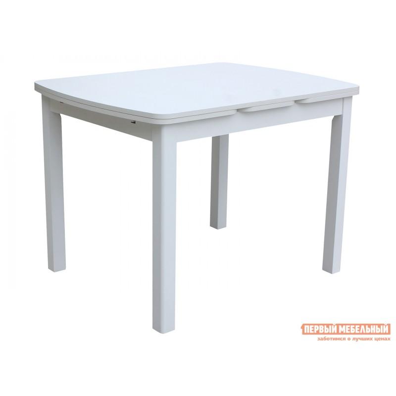 Обеденная группа для столовой и гостиной  Стол Орлеан + 4 стула Родос Белый / Ткань бежевая (фото 2)