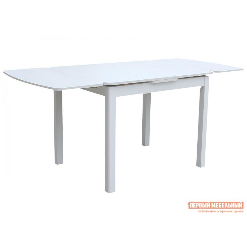 Обеденная группа для столовой и гостиной  Стол Орлеан + 4 стула Родос Белый / Ткань бежевая (фото 3)