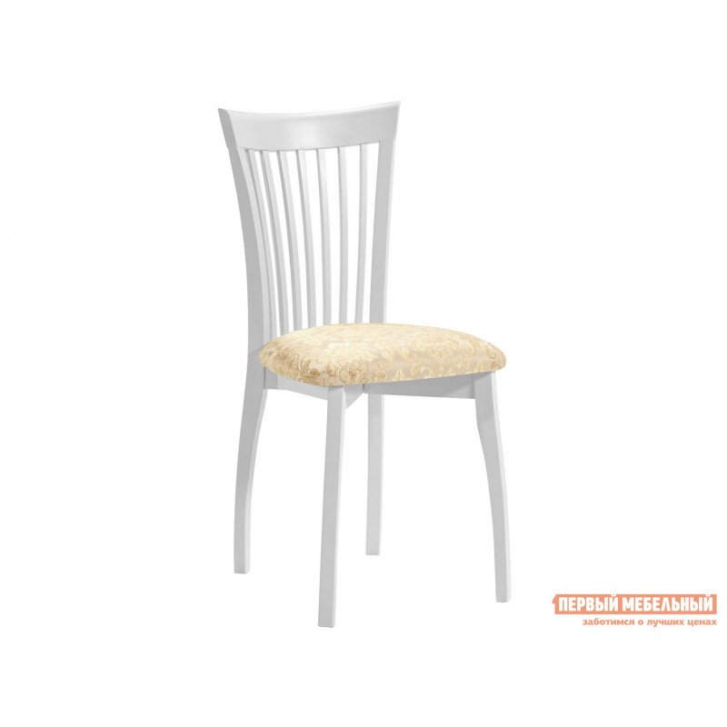 Обеденная группа для столовой и гостиной  Стол Фабрицио + 4 стула Тулон Эмаль белая / Андрис вензель 160 (фото 2)