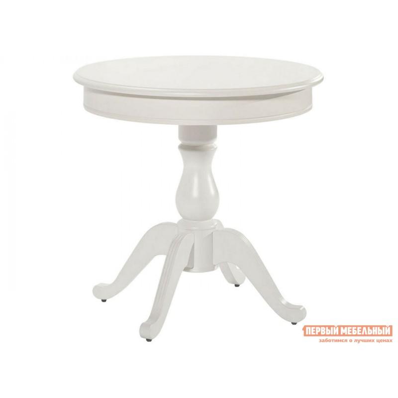 Обеденная группа для столовой и гостиной  Стол Фабрицио + 4 стула Тулон Эмаль белая / Андрис вензель 160 (фото 3)