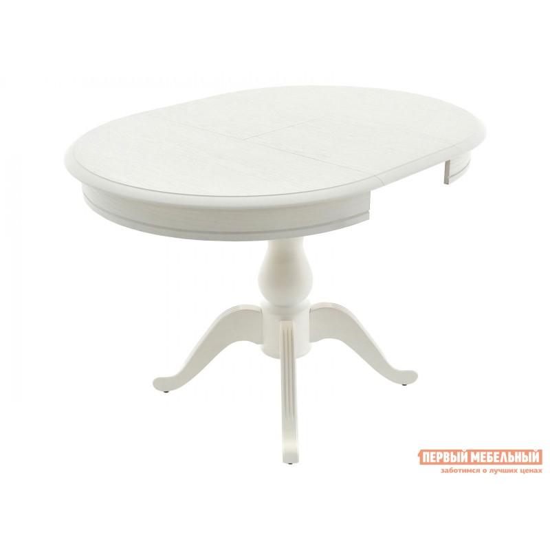 Обеденная группа для столовой и гостиной  Стол Фабрицио + 4 стула Тулон Эмаль белая / Андрис вензель 160 (фото 4)