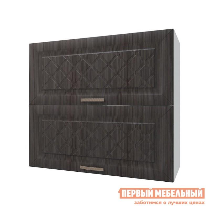 Кухонный модуль  Шкаф антресольный 2 двери 80 см Агава Лиственница темная