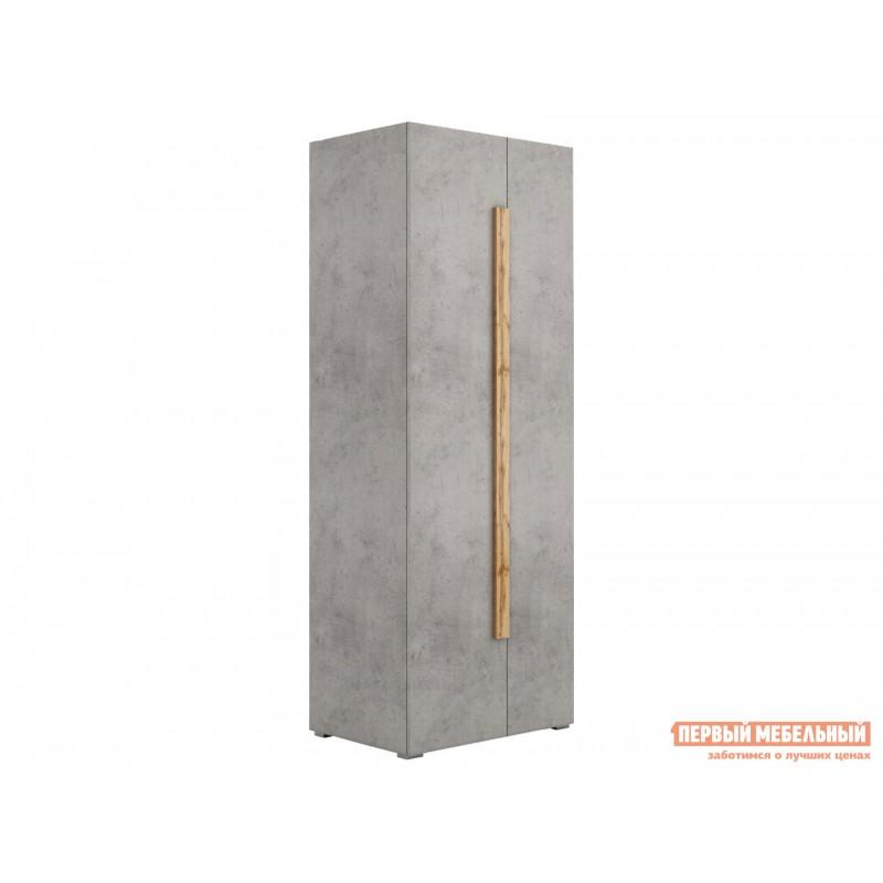 Распашной шкаф  Шкаф платяной 2003М1 Дуб Ватан / Бетон Чикаго, Без топа-накладки
