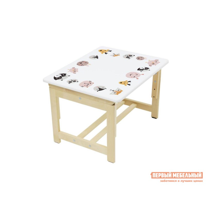 Столик и стульчик  Комплект растущей детской мебели Polini kids Eco 400 SM 68х55 см Лесная сказка (фото 6)