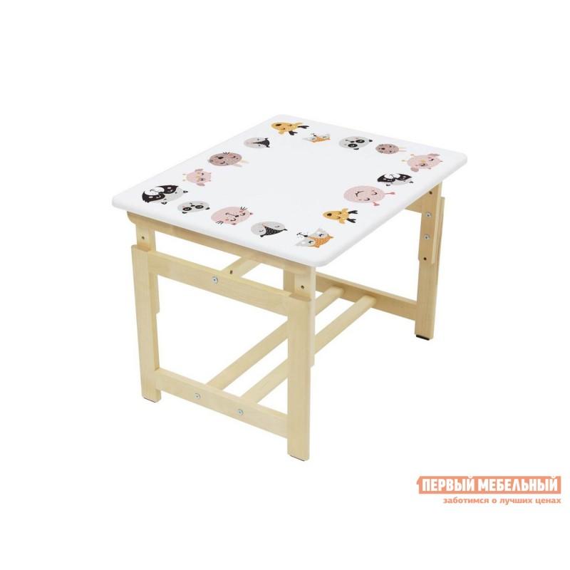 Столик и стульчик  Комплект растущей детской мебели Polini kids Eco 400 SM 68х55 см Лесная сказка (фото 7)