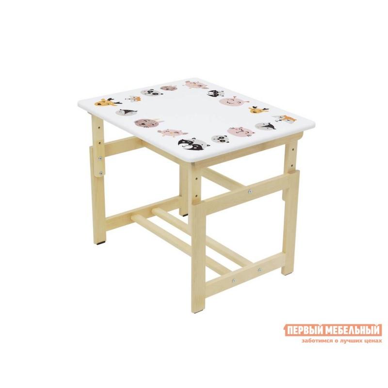 Столик и стульчик  Комплект растущей детской мебели Polini kids Eco 400 SM 68х55 см Лесная сказка (фото 8)