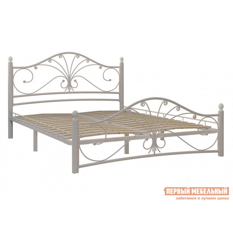 Двуспальная кровать  Кровать Сандра Кремово-белый металл, 1600 Х 2000 мм (фото 2)