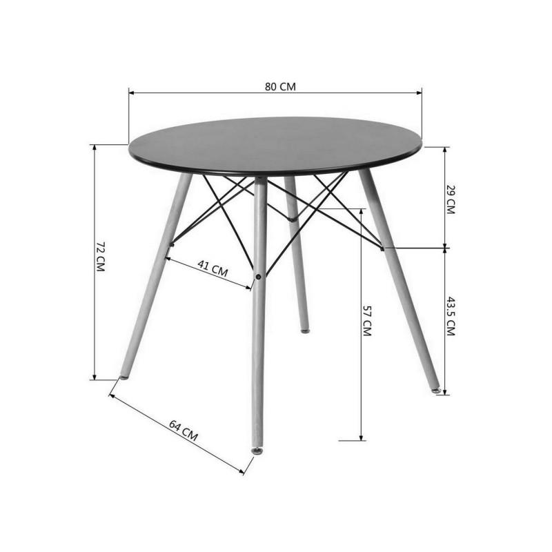 Кухонный стол  EAMES DSW Z-231 / EAMES DSW CHAD Белый, 800 мм (фото 3)