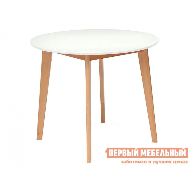 Кухонный стол  Стол обеденный BOSCO (Боско) Бук натуральный / Белый