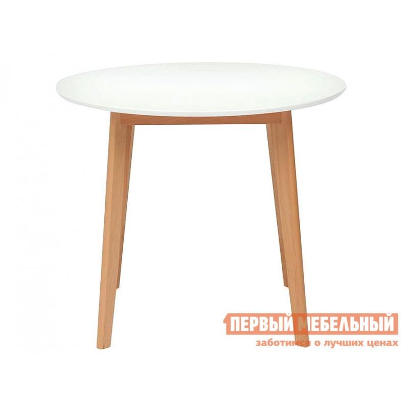 Кухонный стол  Стол обеденный BOSCO (Боско) Бук натуральный / Белый (фото 2)