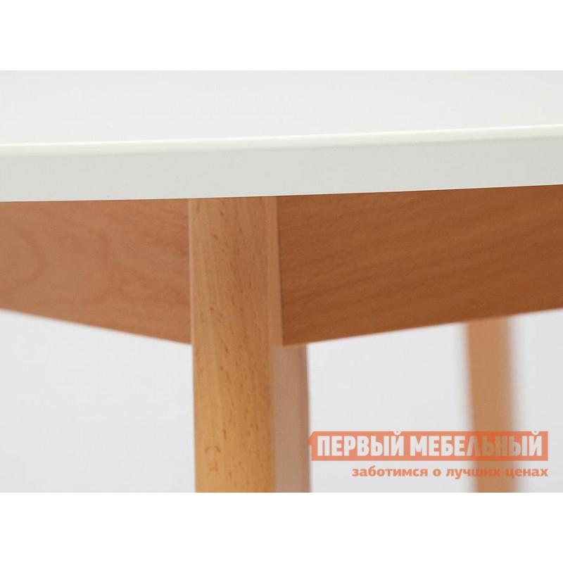 Кухонный стол  Стол обеденный BOSCO (Боско) Бук натуральный / Белый (фото 3)