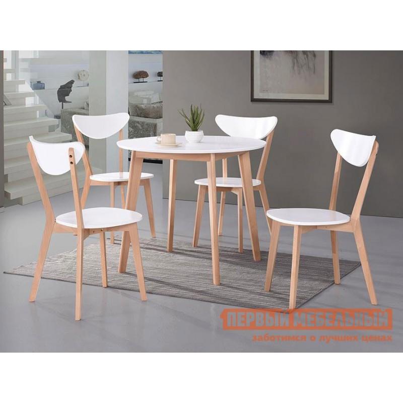 Кухонный стол  Стол обеденный BOSCO (Боско) Бук натуральный / Белый (фото 4)