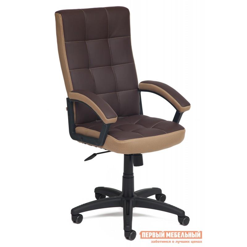 Офисное кресло  Trendy New Кож/зам/ткань, коричневый/бронза, 36-36/21