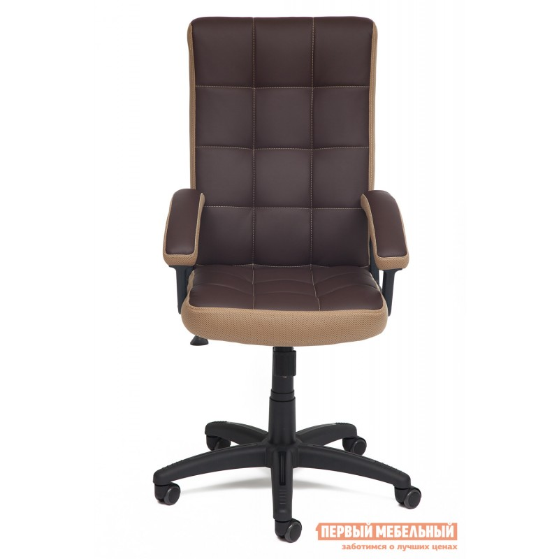Офисное кресло  Trendy New Кож/зам/ткань, коричневый/бронза, 36-36/21 (фото 2)