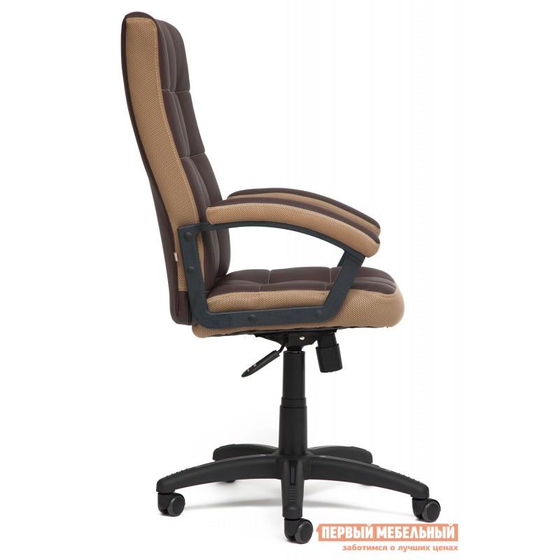 Офисное кресло  Trendy New Кож/зам/ткань, коричневый/бронза, 36-36/21 (фото 3)