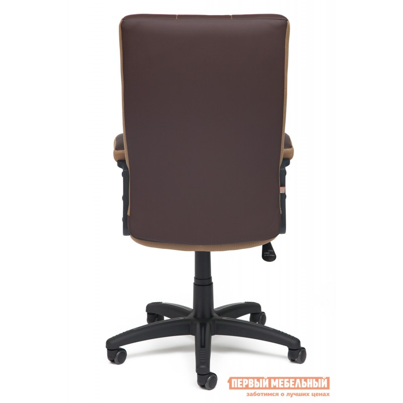 Офисное кресло  Trendy New Кож/зам/ткань, коричневый/бронза, 36-36/21 (фото 4)