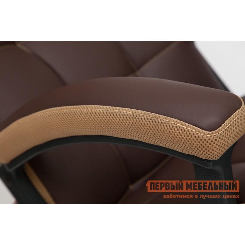 Офисное кресло  Trendy New Кож/зам/ткань, коричневый/бронза, 36-36/21 (фото 5)