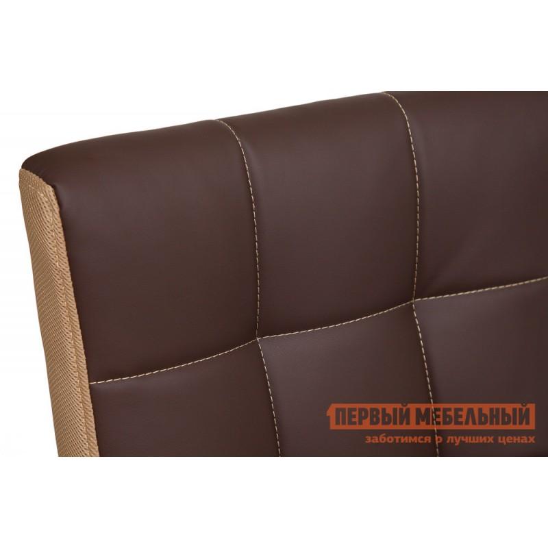Офисное кресло  Trendy New Кож/зам/ткань, коричневый/бронза, 36-36/21 (фото 6)