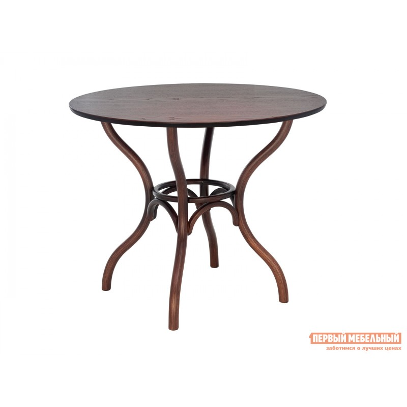 Кухонный стол  Стол Leset Тор круглый Темный орех