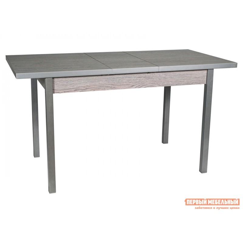 Кухонный стол  Стол ДП1-01-06 раздвижной М65 Денвер Навара / Металлик (фото 2)