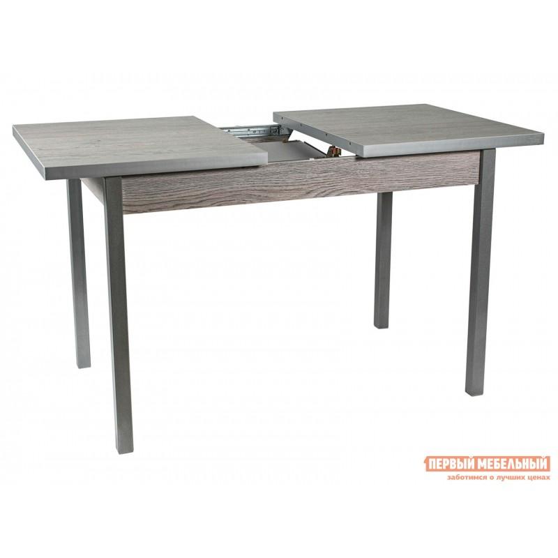 Кухонный стол  Стол ДП1-01-06 раздвижной М65 Денвер Навара / Металлик (фото 3)