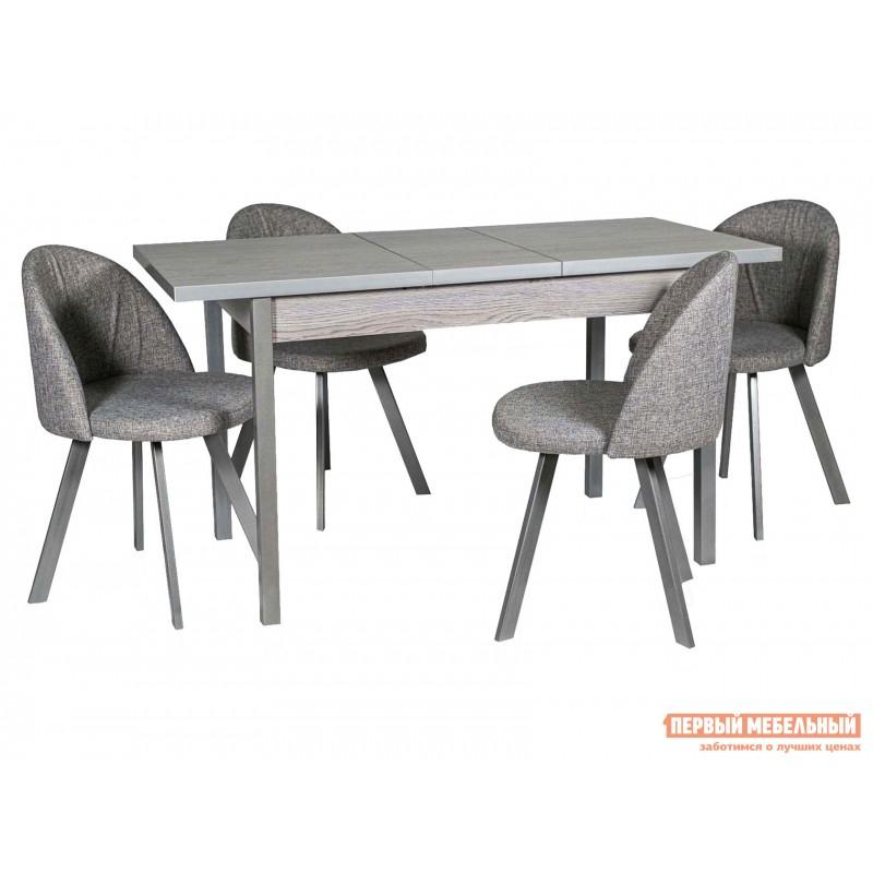 Кухонный стол  Стол ДП1-01-06 раздвижной М65 Денвер Навара / Металлик (фото 8)