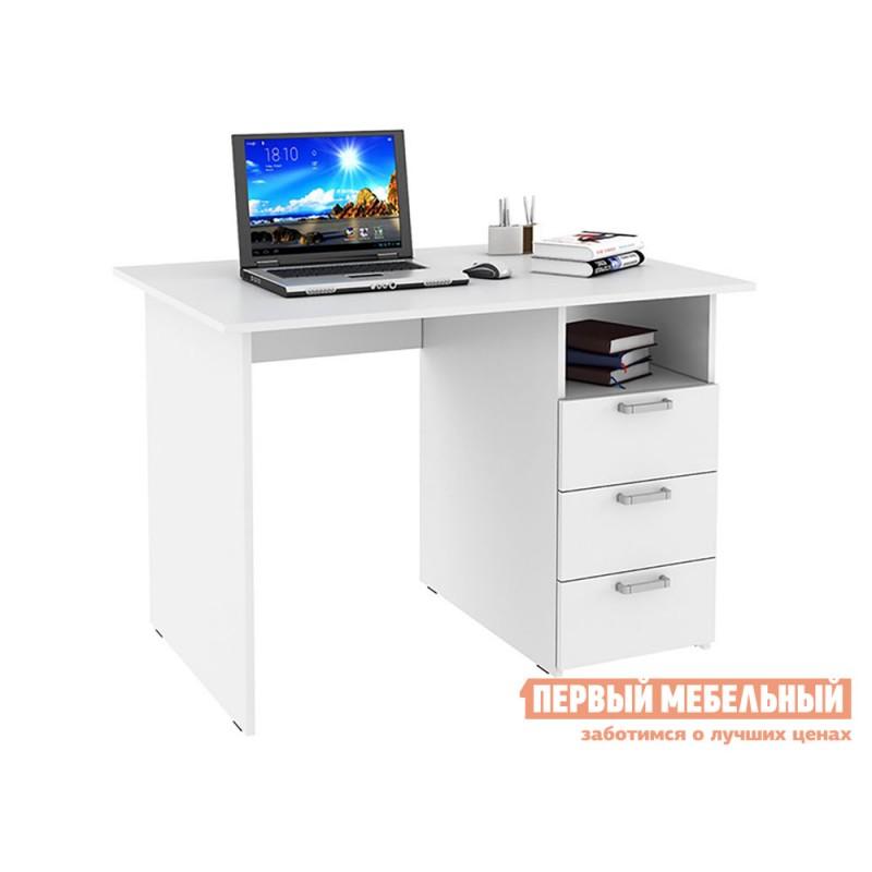 Компьютерный стол  Стол письменный с ящиками 1100 Белый