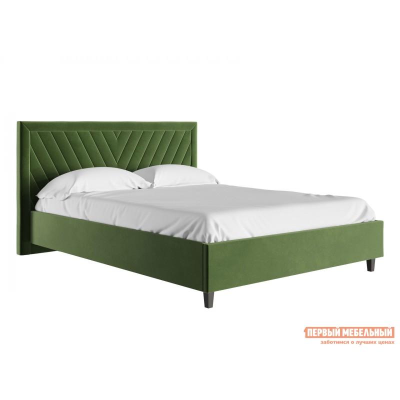 Двуспальная кровать  Кровать с подъемным механизмом Саманта Зеленый, микровелюр, 1400 Х 2000 мм