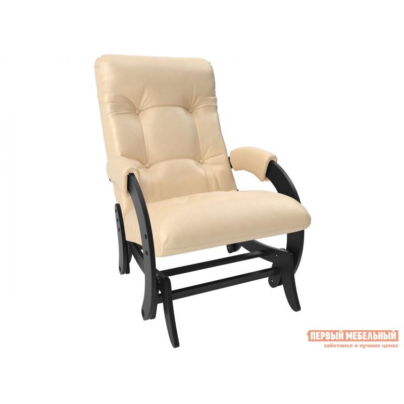 Кресло-качалка  Кресло-глайдер Бергамо КР Венге, Polaris beige, иск. кожа