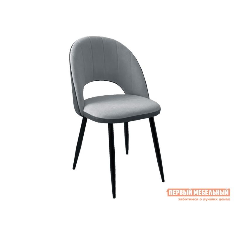 Стул  Стул DikLine 217 Серый, микровелюр / Серый, кожзам / Черный, металл