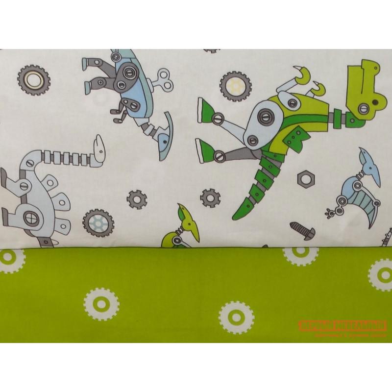 Комплект постельного белья  КПБ Динороботы 1,5 сп. поплин Динороботы, поплин (фото 2)