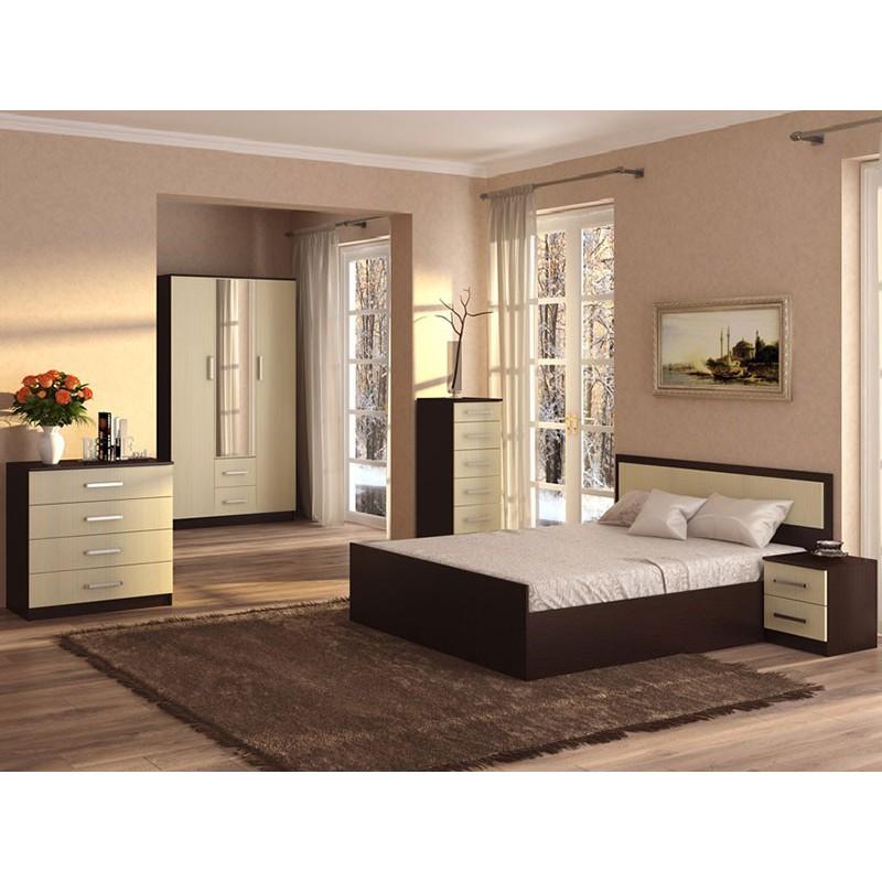Двуспальная кровать  Кровать Фиеста Венге / Лоредо, 140х200 см (фото 2)