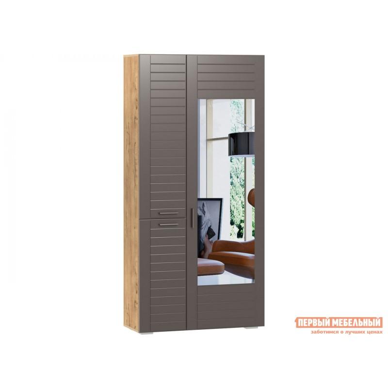 Шкаф распашной  Шкаф для одежды 3-х дв. Ливорно 013.36 Дуб бунратти / Софт графит , С зеркалом