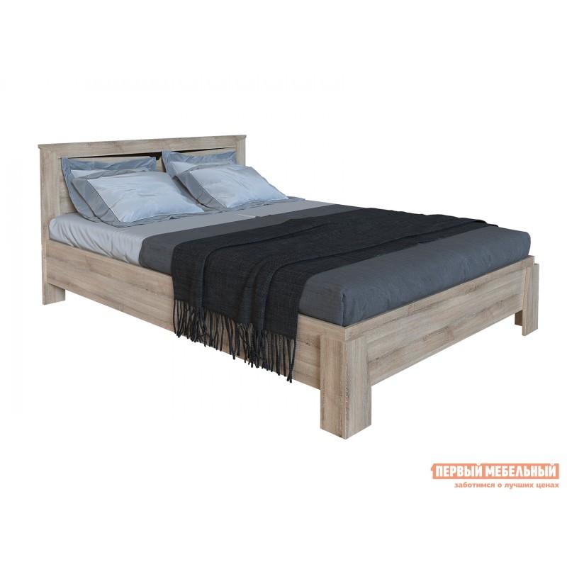Двуспальная кровать  Кровать Гарда NEW Ясень Таормино, 140х200 см, С основанием, Без подъемного механизма
