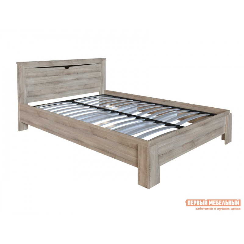 Двуспальная кровать  Кровать Гарда NEW Ясень Таормино, 140х200 см, С основанием, Без подъемного механизма (фото 2)