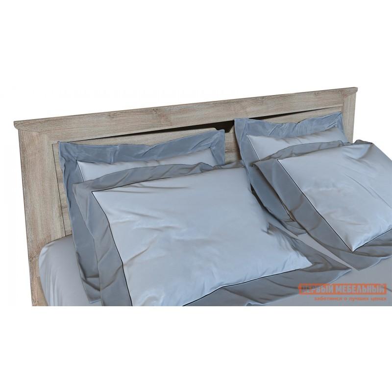 Двуспальная кровать  Кровать Гарда NEW Ясень Таормино, 140х200 см, С основанием, Без подъемного механизма (фото 5)