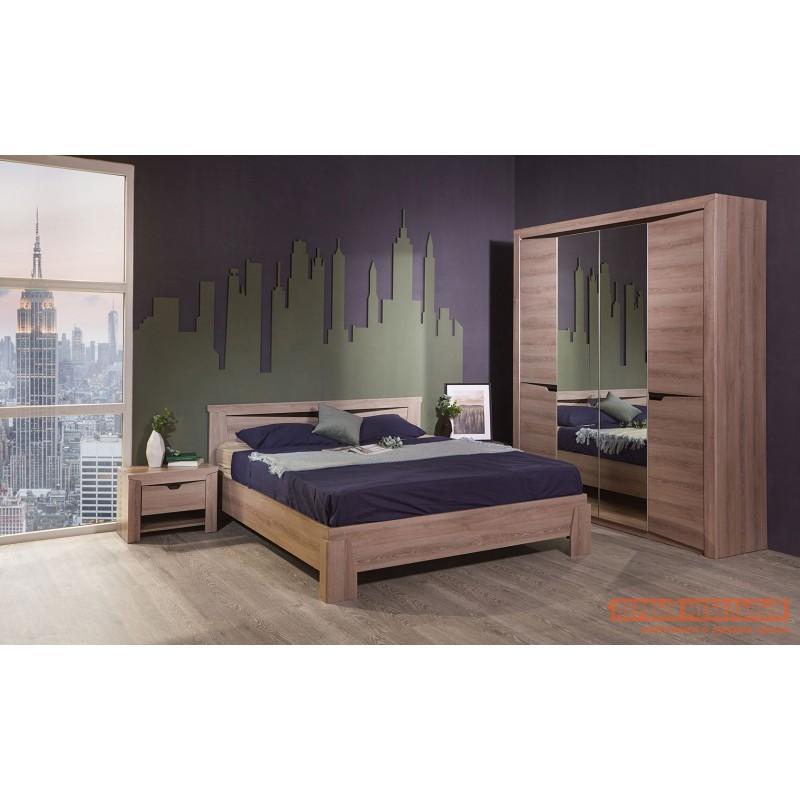 Двуспальная кровать  Кровать Гарда NEW Ясень Таормино, 140х200 см, С основанием, Без подъемного механизма (фото 8)